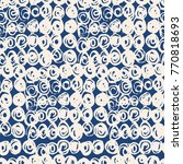 indigo vector tie dye seamless... | Shutterstock .eps vector #770818693