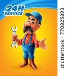 repair plumber or mechenic | Shutterstock .eps vector #770825893