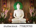 The Buddha Sits On A White...