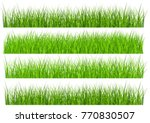 large set of fresh green spring ... | Shutterstock .eps vector #770830507