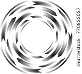 speed lines in circle form .... | Shutterstock .eps vector #770832037