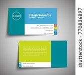 modern simple business card set ... | Shutterstock .eps vector #770836897