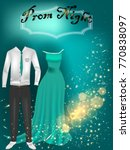 prom night party background for ... | Shutterstock .eps vector #770838097