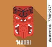 flat design  maori mask icon | Shutterstock .eps vector #770840527