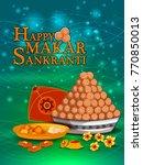 happy makar sankranti religious ... | Shutterstock .eps vector #770850013