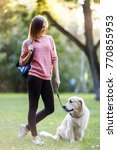 picture of young woman on walk... | Shutterstock . vector #770855953