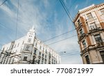 bottom view on old city... | Shutterstock . vector #770871997