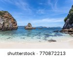 there is a lava stone in shape... | Shutterstock . vector #770872213