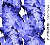 watercolor seamless pattern...   Shutterstock . vector #770874727