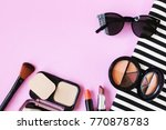 lipstick sunglass necklace... | Shutterstock . vector #770878783