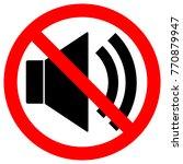 no sound sign. loudspeaker icon ...