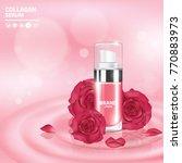 rose collagen vitamin skin care ... | Shutterstock .eps vector #770883973