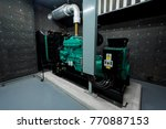 generator room emergency power... | Shutterstock . vector #770887153