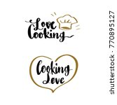 love cooking and cooking love... | Shutterstock .eps vector #770895127