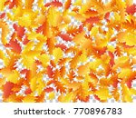 oak leaf abstract background... | Shutterstock .eps vector #770896783