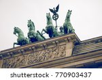 berlin brandenburg gate ... | Shutterstock . vector #770903437