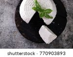 a fresh ricotta with basil leaf ... | Shutterstock . vector #770903893