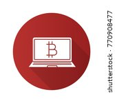 bitcoin digital wallet flat... | Shutterstock . vector #770908477
