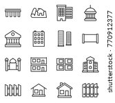 thin line icon set   bridge ... | Shutterstock .eps vector #770912377
