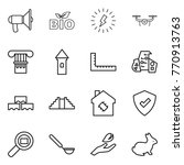 thin line icon set  ... | Shutterstock .eps vector #770913763
