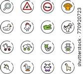 line vector icon set   bacteria ... | Shutterstock .eps vector #770920723