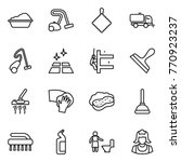 thin line icon set   washing ... | Shutterstock .eps vector #770923237