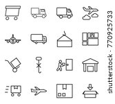 thin line icon set   delivery ... | Shutterstock .eps vector #770925733