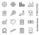 thin line icon set   target... | Shutterstock .eps vector #770927593