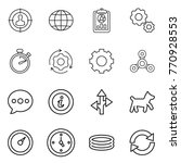 thin line icon set   target... | Shutterstock .eps vector #770928553