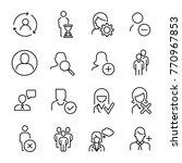 simple set of user related... | Shutterstock .eps vector #770967853