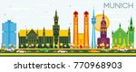 munich germany skyline with... | Shutterstock .eps vector #770968903