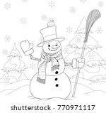 vector illustration of a cute... | Shutterstock .eps vector #770971117