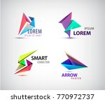 vector set of abstract 3d... | Shutterstock .eps vector #770972737