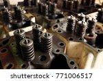 engine exhaust valve and intake ... | Shutterstock . vector #771006517
