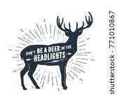 hand drawn deer textured vector ...   Shutterstock .eps vector #771010867