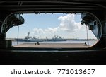 us aircraft carrier | Shutterstock . vector #771013657