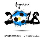 abstract number 2018 and soccer ... | Shutterstock .eps vector #771019663