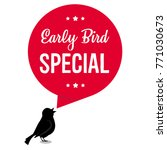 Stock vector early bird special discount sale event banner or poster 771030673