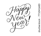 happy new year hand lettered... | Shutterstock .eps vector #771041683