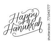 happy hanukkah hand lettered... | Shutterstock .eps vector #771043777