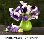 Bunch Of Flowers Pansies In A...
