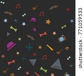 vector background pattern with... | Shutterstock .eps vector #771059533