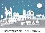 holiday christmas paper art... | Shutterstock .eps vector #771070687