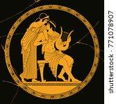 vector vintage greek national... | Shutterstock .eps vector #771078907