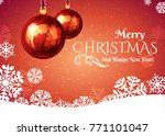 christmas ball with snowflakes... | Shutterstock .eps vector #771101047