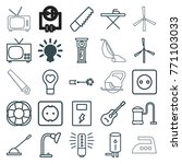 set of 25 electric outline... | Shutterstock .eps vector #771103033