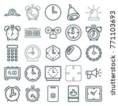 set of 25 alarm outline icons... | Shutterstock .eps vector #771103693