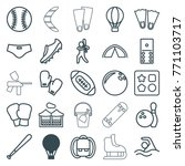 set of 25 recreation outline... | Shutterstock .eps vector #771103717
