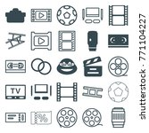 set of 25 movie filled and... | Shutterstock .eps vector #771104227