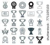 set of 25 reward outline icons... | Shutterstock .eps vector #771105103